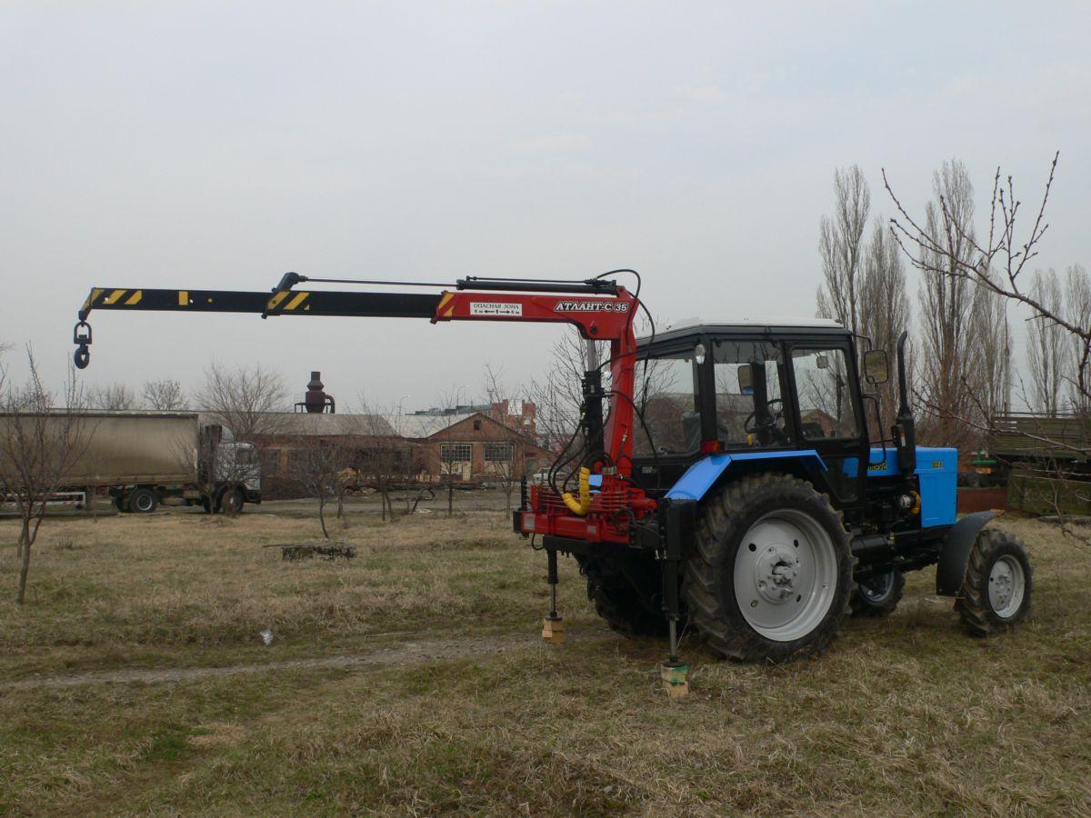 Гидроманипулятор на трактор